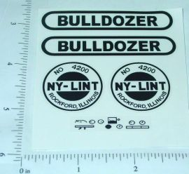 Nylint Old Style Bulldozer Vehicle Stickers