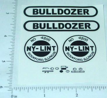 Nylint Old Style Bulldozer Vehicle Stickers Main Image
