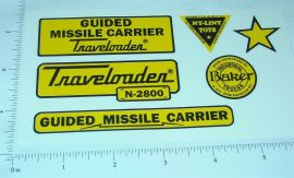 Nylint Guided Missile Carrier Vehicle Stickers