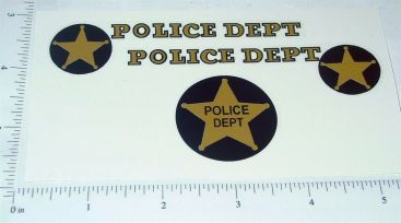 Nylint Ford Bronco Police Dept Sticker Set Main Image