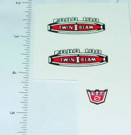 Nylint Ford Twin I-Beam Pickup Truck Stickers