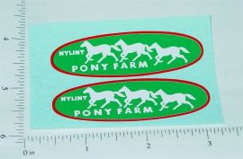 Nylint Ford Econoline Pony Farms Pickup Stickers