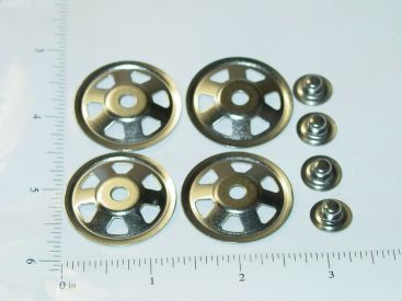 Set of 4 Buckeye Toy Trucks Replacement Hubcaps Toy Part Main Image