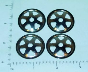 Set of 4 Ertl Loadstar Metal Hub Cap Toy Parts Main Image