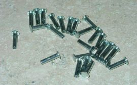 "25 Semi Tubular 1/8"" by 1/2"" Tonka Rivets"