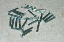 "25 Semi Tubular 1/8"" by 3/4"" Tonka Rivets"