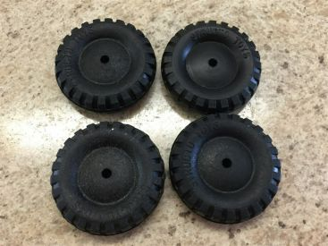 "Structo Set of 4 Reproduction Real Rubber 2"" Replacement Tire Toy Part Main Image"