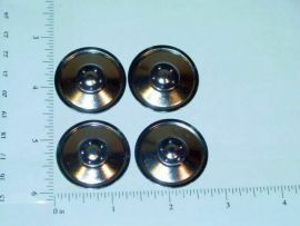 Set of 4 Zinc Plated Tonka Solid Hubcap Toy Parts