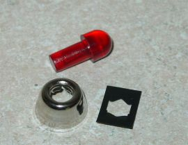 Tonka Replacement Red Flasher w/Bezel Toy Part