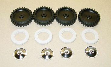 Set of 4 Tonka Tires w/Whitewalls & Hubcaps Main Image