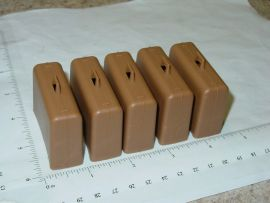 Set/5 Tonka Brown Airport Tug Suitcase/Luggage Replacement Toy Part
