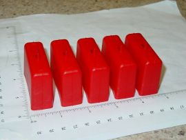 Set of 5 Tonka Red Airport Tug Suitcase/Luggage Replacement Toy Part