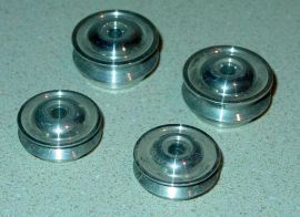 Set 4 Cox Thimble Drome Champ Polished Aluminum Wheels