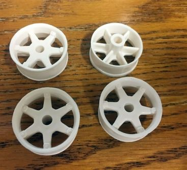 Set of 4 Ertl Repro Fleetstar/Loadstar Spoke Wheel Toy Parts Main Image