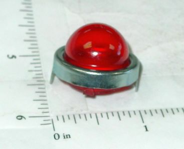 Structo Reproduction Red Flasher Light w/Chrome Trim Ring Toy Part Main Image
