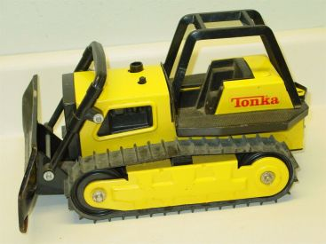 Vintage Tonka Bulldozer, Grader, Pressed Steel Toy Vehicle Main Image