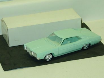Vintage Plastic 1969 Ford Galaxie Fastback + Box, Dealer Promo Car, Aztec Aqua Main Image