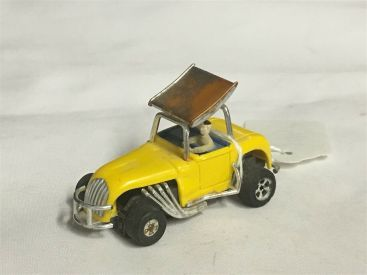 Vintage Aurora T-Jet Yellow Super Modified Roadster Slot Car Main Image