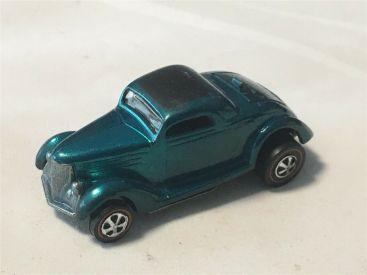 Vintage Aqua Classic 36 Ford Coupe Redline Hotwheel Diecast Car Main Image