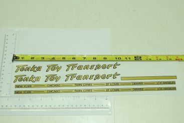 Tonka Toy Transport Box Semi Sticker Set Main Image