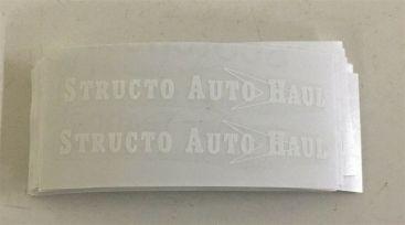 Structo Auto Haul Transporter White Graphic Sticker Set Main Image
