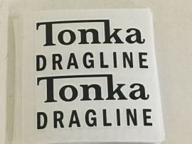Tonka 1962 Dragline Construction Vehicle Replacement Sticker Set