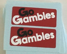 Nylint Chevy Go Gambles Pickup Truck Sticker Set