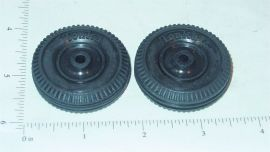 Tonka Pair Small Tires Replacement Toy Parts