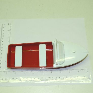 Tonka Red w/Deck Plastic Rowboat Accessory Replacement Toy Part Main Image