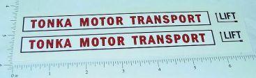 Tonka Motor Transport Auto Hauler Stickers Main Image