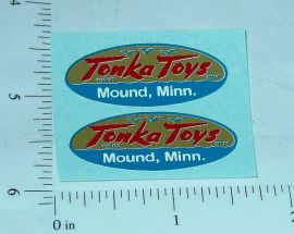 Pair 1956 to 1957 Tonka Logo Stickers