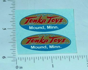 Pair 1956 to 1957 Tonka Logo Stickers Main Image