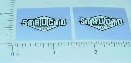 Structo Black on White Door Stickers