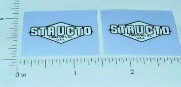 Structo Black on White Door Stickers Main Image