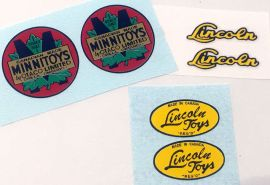 Lincoln/Minnitoy Decals