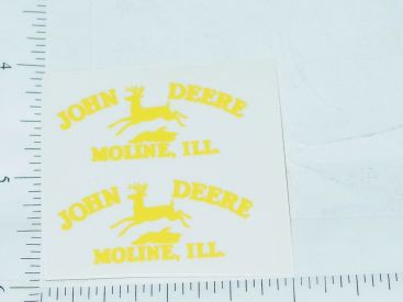 John Deere Yellow Moline, Ill Four Legged Deer Logo Sticker Main Image