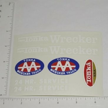 1971-72 Mighty Tonka Wrecker Replacement Sticker Set Main Image