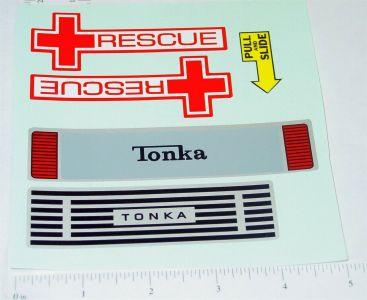 Mighty Tonka Ambulance Replacement Sticker Set Main Image