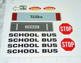 Mighty Tonka School Bus Van Replacement Sticker Set