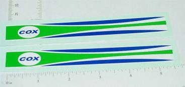 Cox Thimble Drome Shrike Prop Rod Stickers Style 2 Main Image