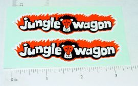 Nylint Ford Econoline Jungle Wagon Stickers
