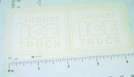 Banner Ice Truck Replacement Sticker Set