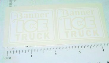 Banner Ice Truck Replacement Sticker Set Main Image