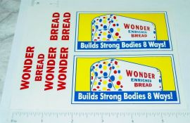 Banner Wonder Bread Delivery Van Truck Replacement Sticker Set