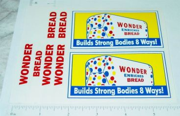 Banner Wonder Bread Delivery Van Truck Replacement Sticker Set Main Image