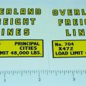 Structo Overland Freight Semi Truck Stickers Main Image