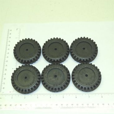 Set of 6 Rubber Tonka Script Tire Toy Parts Main Image