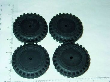 Set of 4 Rubber Tonka Script Tire Toy Parts Main Image
