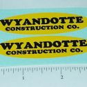 Wyandotte Construction Company Oval Sticker Set Main Image