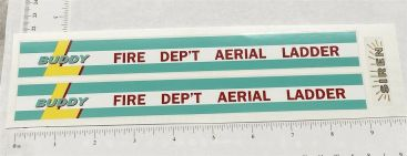 Buddy L Aerial Ladder Fire Truck Replacement Sticker Set Main Image